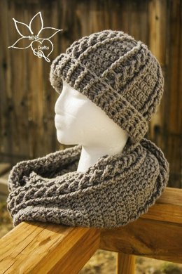 Cables & Braids Cowl & Beanie Set