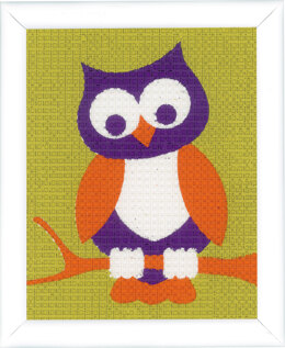 Vervaco Wise Owl Tapestry Kit - 16 x 12.5cm