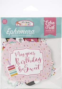 Echo Park Paper Echo Park Cardstock Ephemera 33/Pkg - Icons, It's Your Birthday Girl