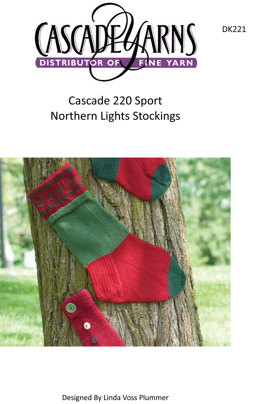 Northern Lights Stocking in Cascade 220 Sport - DK221