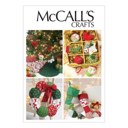 McCall's Ornaments Wreath Tree Skirt and Stocking M6453 - Paper Pattern Size One Size Only