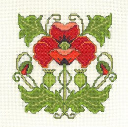 Creative World Of Crafts Art Nouveau Poppy Cross Stitch Kit