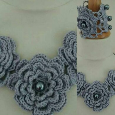 Rose Necklace and Cuff