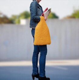 Chunky knit grocery bag