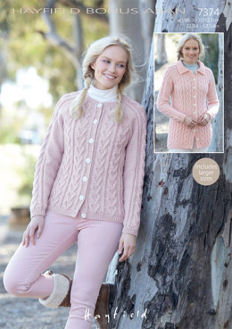 Cardigans in Hayfield Bonus Aran - 7374