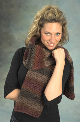 Diagonal Tube Scarf in Plymouth Boku - F316