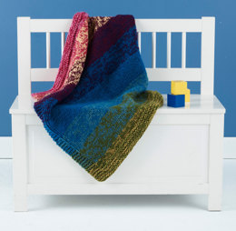 Blended Colors Baby Throw in Lion Brand Vanna's Choice - L20322