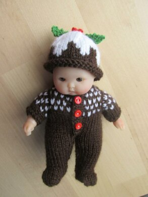 Christmas Pudding Outfit.Christmas Pudding Outfit For 5