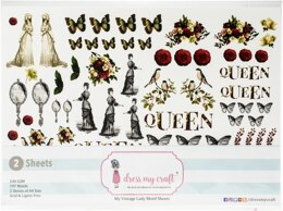 Dress My Craft Image Sheet 240gsm A4 2/Pkg - My Vintage Lady