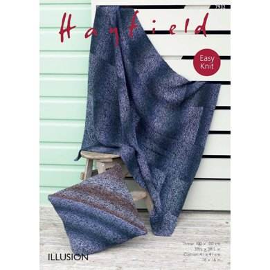 Cushion Cover and Throw in Hayfield Illusion - 7932 - Downloadable PDF