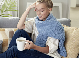 Scarf in Bernat Alize Blanket-EZ - Downloadable PDF