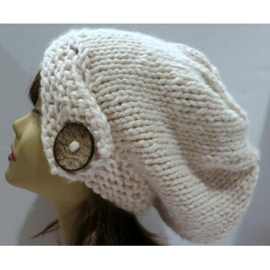Classy Slouch Hat with Button Band