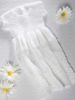 Crochet Christening Gown in Premier Yarns Anti-Pilling Everyday Baby - Downloadable PDF