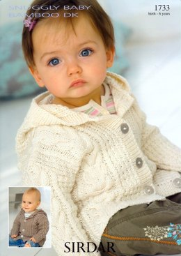 Coat with Hood in Sirdar Snuggly Baby Bamboo - 1733