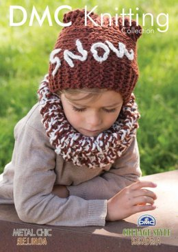 Boy's Hat And Scarf With Crochet Letters in DMC Cottage Style Kendra - 15169L/2