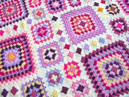 Shabby Chic Granny Square Throw
