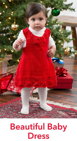 Beautiful Baby Dress in Red Heart Miami - LW4817EN