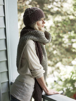 Canyon Divide Hat and Scarf in Imperial Yarn Bulky 2 Strand - P116 - Downloadable PDF