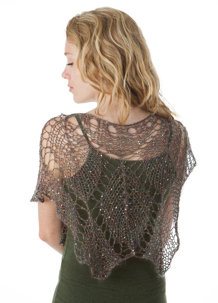 Sparkling Lace Leaf Shawl In Artyarns Beaded Silk And