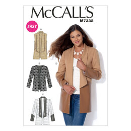 McCall's Misses' Open Front Vest and Jackets M7332 - Sewing Pattern