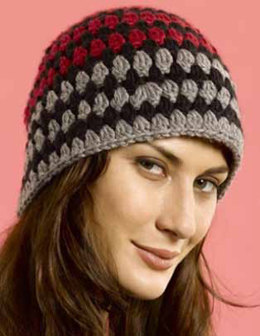 Tri-Color Cloche in Caron Simply Soft and Simply Soft Heathers - Downloadable PDF