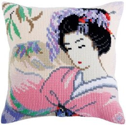 Collection D'Art Japanese Love Cross Stitch Cushion Kit