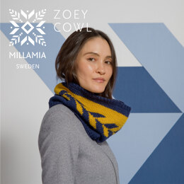 """"""" Zoey Cowl """" -  Cowl Knitting Pattern For Women in MillaMia Naturally Soft Aran by MillaMia"""