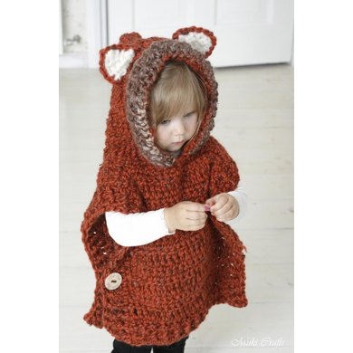 Hooded Poncho Fox Max Crochet pattern by Muki Crafts
