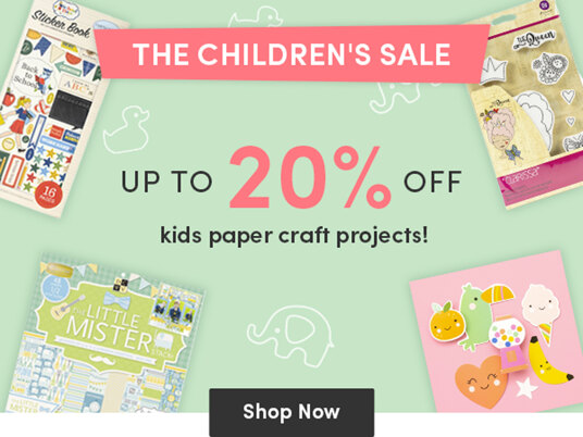 Up to 20 percent off children's paper craft projects!
