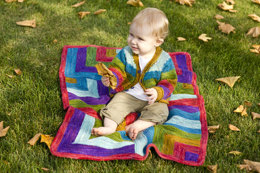 Rocketry Baby Cardigan in Dream in Color Classy