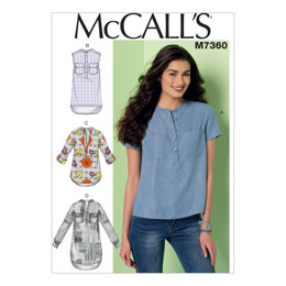 McCall's Misses' Henley Tops M7360 - Sewing Pattern