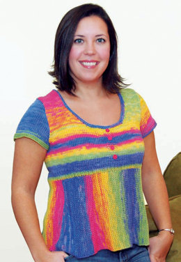 Carnival Top in Knit One Crochet Too Ty-Dy - 1588