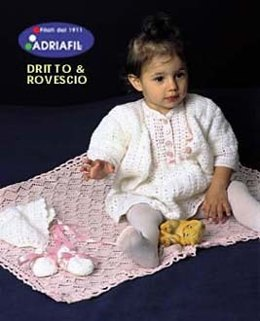 Sweet Set & Pink Blanket in Adriafil Nice Baby and Avantgarde - Downloadable PDF