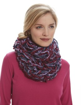 Seed Stitch Arm Knit Cowl in Patons Delish and Bohemian