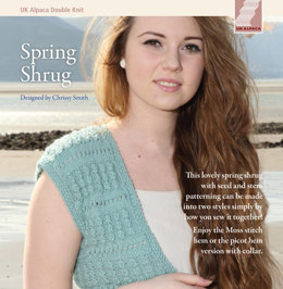Spring Shrug in UK Alpaca Superfine Double Knit - Downloadable PDF