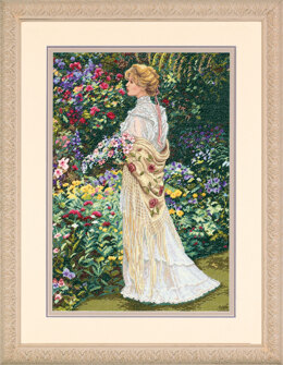 Dimensions In Her Garden Cross Stitch Kit - 28cm x 41cm