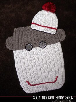 Sock Monkey Sleep Sack and Hat