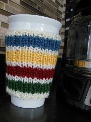 Hudson Bay Inspired Cup Cozy