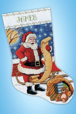 Design Works Santa's List Stocking Counted Cross Stitch Kit