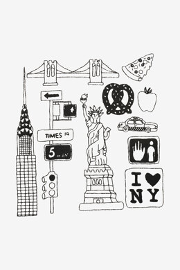 New York in DMC - PAT0347 - Downloadable PDF