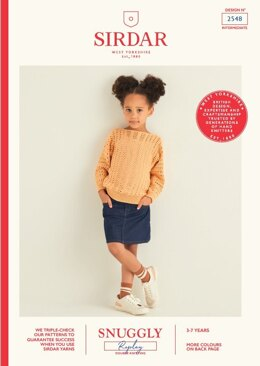 Children's Sweater in Sirdar Snuggly Replay DK - 2548 - Leaflet