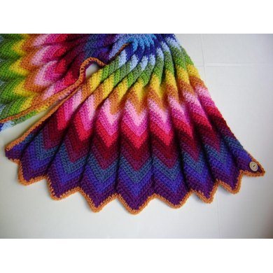 Technicolor Chevron Blanket