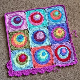 Offset Circles Blanket