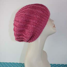 Simple Aran Fishermans Rib Slouch Hat