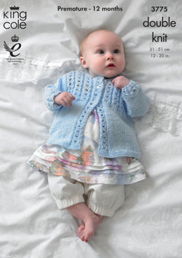 Dress and cardigan in King Cole Baby Glitz DK - 3775