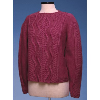 Zig Zag Cable Pullover #153
