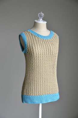 Netted Tank in Universal Yarn Cotton Supreme