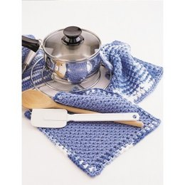 Dishcloth and Pot Holder in Lily Sugar 'n Cream Solids