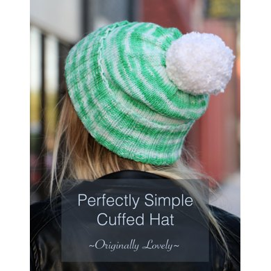Perfectly Simple Cuffed Hat Knitting pattern by Originally Lovely 43645d84f09
