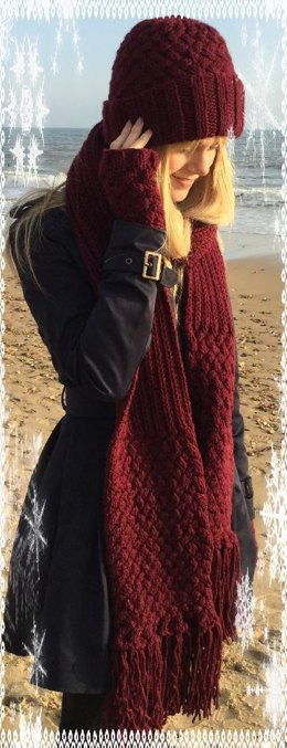 Yvonne Scarf, hat and gloves